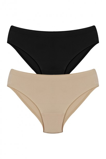 Coucou No Panty Line Bonded Mid Waist Bikini Brief (Pack of 2)