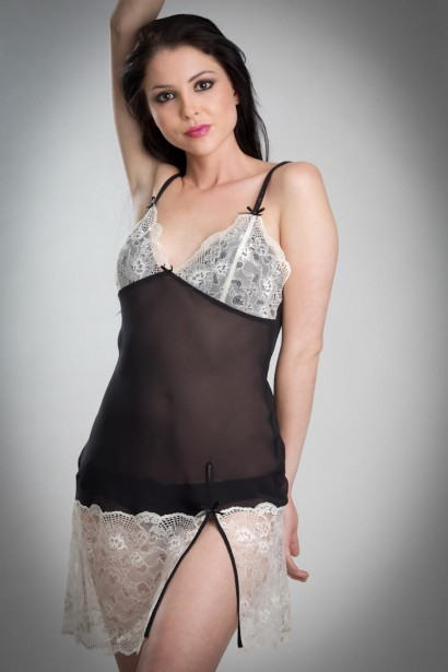 Bw!tch Sheer Chemise with Slit
