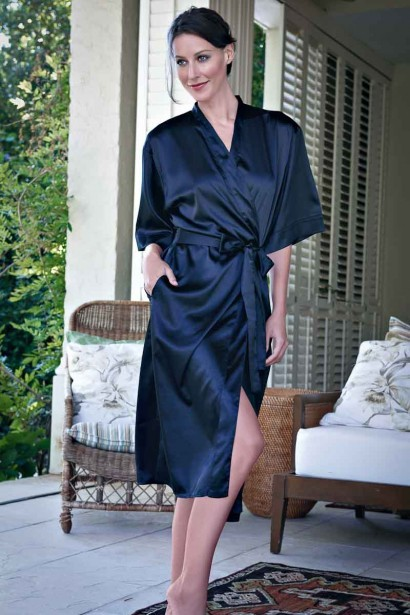 Enamor Satin Mid- Length Robe