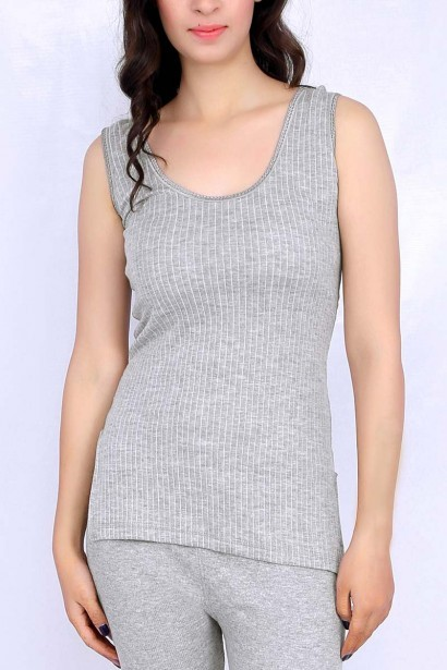 Neva Neva Neva Sleeveless Modal Thermal Grey Tank Top