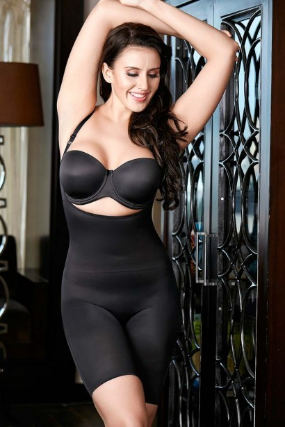 Zivame 12 Hour Thinvisible Open Bust Bodysuit - Black