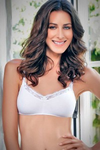 Enamor Smooth Lace-Lined Bra
