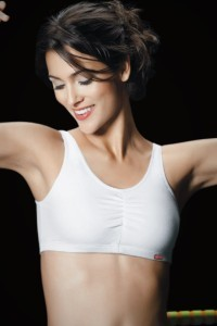 Hanes Shirred Racerback Sports Bra