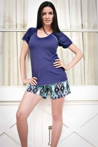 Inaya Top and Ikat Print Shorts