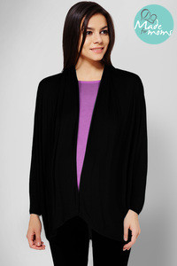 Zivame Made For Moms Maternity And Nursing Shrug With Attached Slip-Black