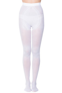 Zivame Anti Microbial Pantyhose with Reinforced Toe- White