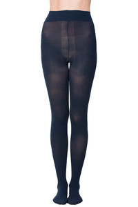 Zivame Anti Microbial Opaque Shaping Pantyhose- Dark Blue