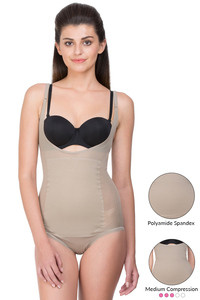 Zivame Thermoslim Medium Impact Body Shaping Bodysuit- Indian Skin