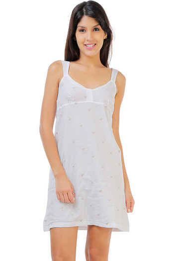 Buy Zivame Dreamwear Fine Cotton Embroidered Soft Nightdress-White at  Rs.858 online  bb25ecfc9