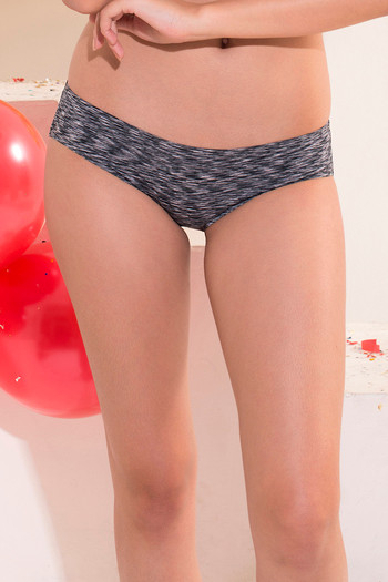 708cb98ec9 Buy Zivame Abstract Print No Panty Line Bonded Bikini Panty-Grey at Rs.277  online
