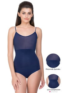 Zivame Smoothening Shaping Bodysuit with Tanktop Styling- Navy