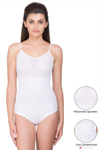 Zivame Smooth Shaping Bodysuit with Tank Top Styling- White