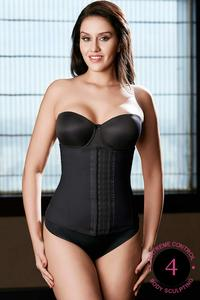 Zivame Thermo Slim Body Sculpting Waist Cincher-Black