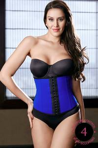 Zivame Thermo Slim Body Sculpting Solid Colour Waist Cincher-Blue