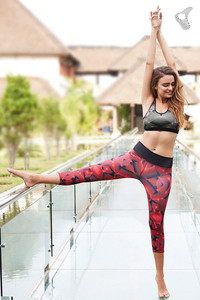 Zelocity AlphaTone Core Leggings Abstract Red