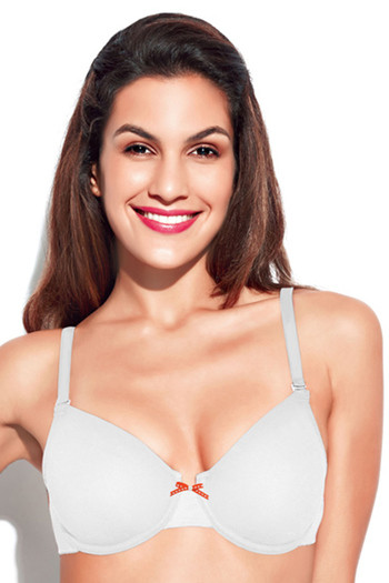 df25539ee8dea Buy Enamor Non-Padded Wired Racer Back Multiway Bra-White at Rs.550 online