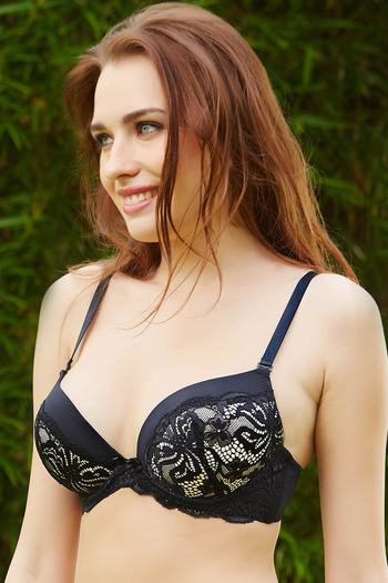 d28b929d5795f Buy Zivame All That Lace Padded Bra - Black at Rs.627 online