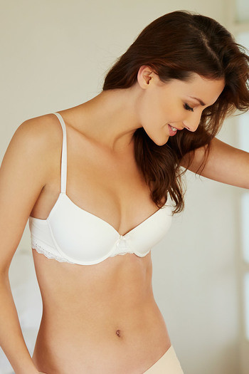 3497c846d490f Buy Zivame Wear Me Everyday Padded Smooth T Shirt Bra-Ivory at Rs.557  online