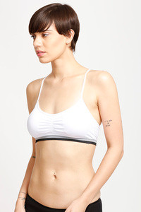 Zivame Watch Your Stylized Racerback Bralette- White
