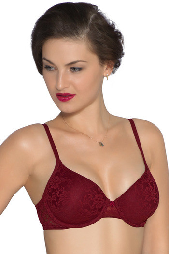 054611b7b5 Buy Amante Bridal Floral Lightly Padded Underwired Bra-Maroon at Rs.1095  online