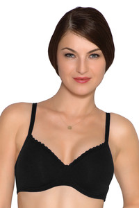 Amante Padded Non Wired T shirt Bra Black