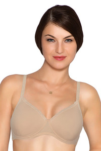 Amante Padded Non Wired T shirt Bra Nude