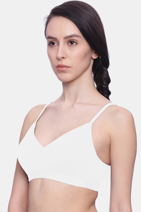 Brag Teens WireFree Removable Cookie T Shirt Bra White
