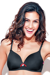 Enamor Lightly Padded Non Wired Bra Black