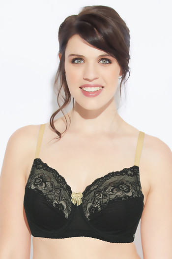 efa4baa77ac48 Buy Enamor Single Layered Super Support Bra- Black at Rs.999 online ...