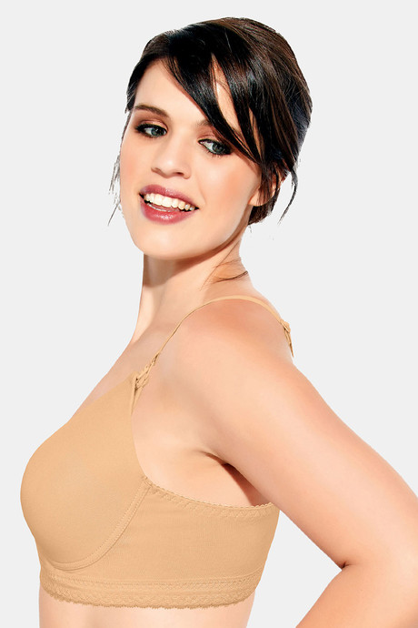 Enamor Organic Cotton Padded Extra Soft Cups With Side Smoothening Maternity Nursing Bra Skin
