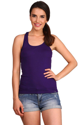 a6e2b3176e708 Buy Jockey Pure Cotton Racerback Tank Top-Purple at Rs.175 online ...