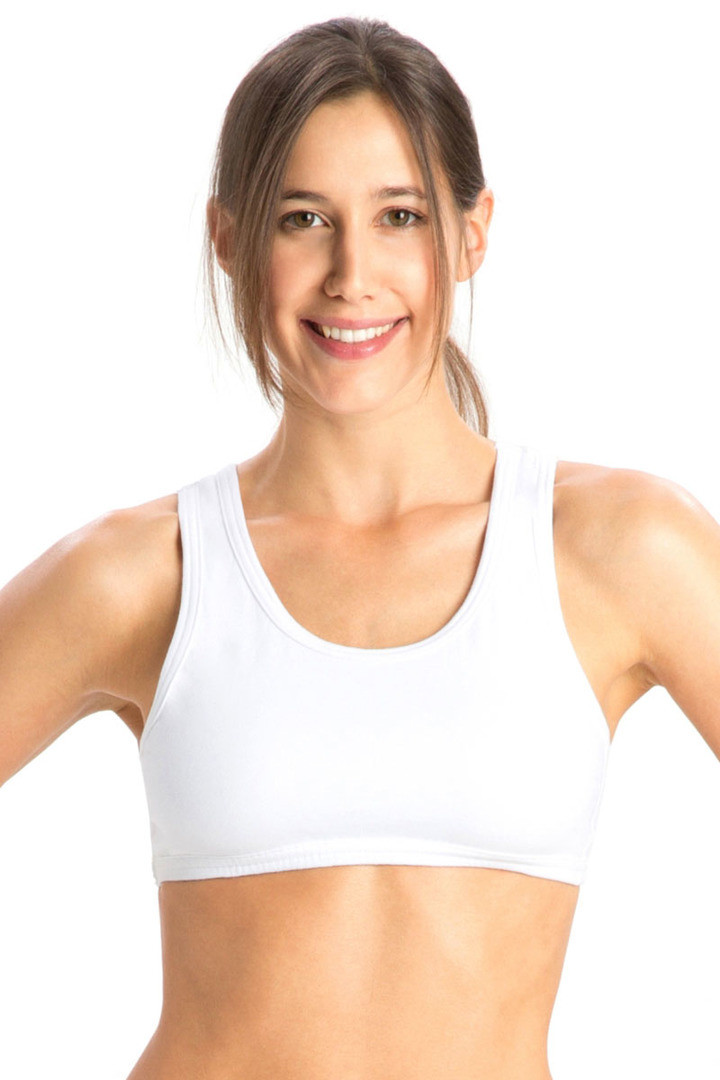 Jockey Cotton Low Impact Sports Bra White