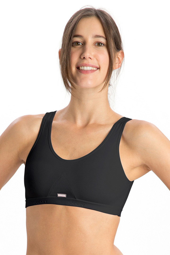 Jockey Low Impact Non Padded Sports Bra Black