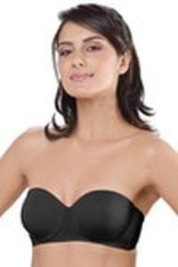 Lovable Lightly Padded Underwired Strapless Bra Black