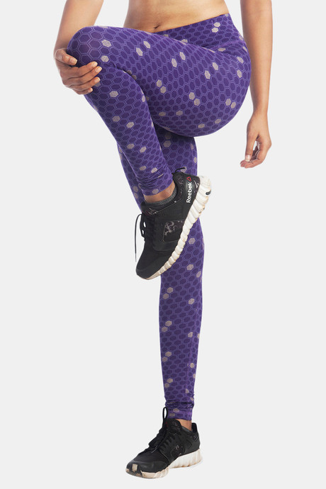 Lavos Bamboo With Organic Cotton Anti Microbial Skin Fit Printed Pants Purple