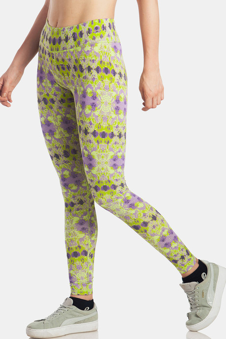 Lavos Bamboo With Organic Cotton Anti Microbial Skin Fit Printed Pants Green