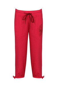 Lovable Pure Cotton Capri with Side Scoop Pockets-Pink