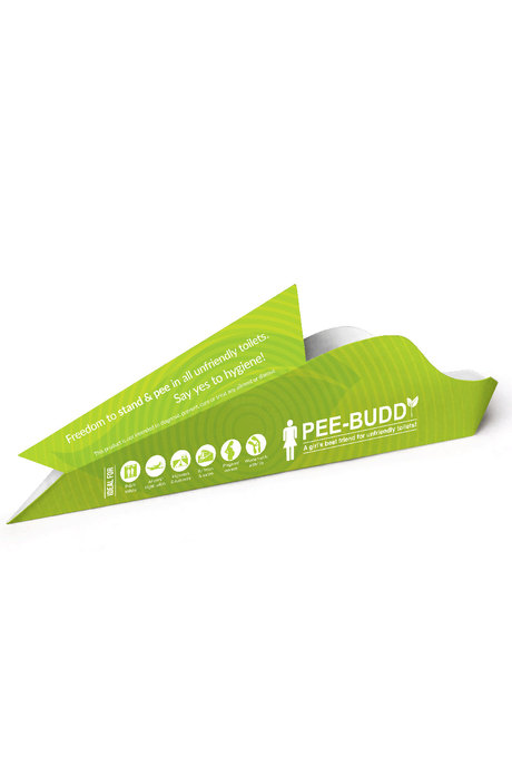 Pee Buddy Female Disposable Portable Urination Device 5 Funnels Green