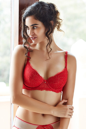 Triumph T Shirt >> Buy Zivame Satin Padded Low Back Longline Bra- Ruby Red at Rs.1116 online | Bras online