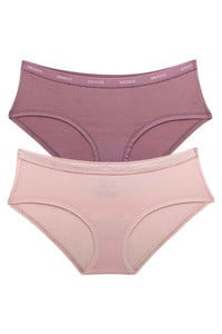 Amante Cotton Everyday Perfect Low Rise Hipster Brief (Pack of 2)-Lilac