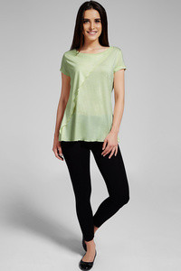 Zivame Aire Front Layered Soft Feel Viscose Top-Lemon