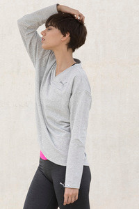 Puma Swagger Crew Sweat Shirt Light Gray