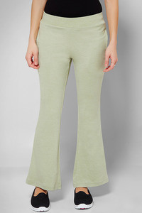 Zivame Soulfit Semi Flared Long Length Pant-Green