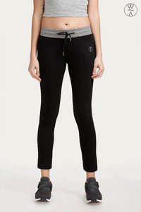 West Vogue Wide Waistband Trackpants Black