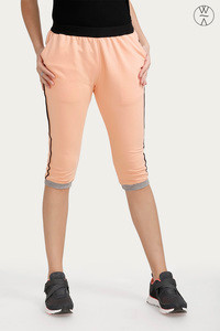 West Vogue Wide Waistband Trackpants Peach