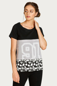 West Vogue Neo Play Relaxed Fit Top Black