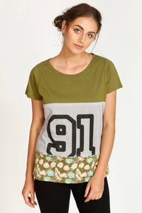 West Vogue Neo Play Relaxed Fit Top Green