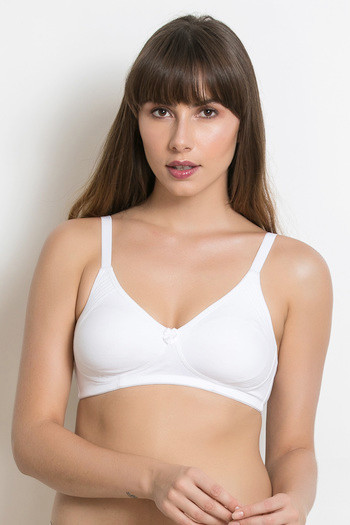 5f90518fc1 Buy Rosaline Side Shaping Smooth Fit 3-4th Coverage Bra- White at Rs.314  online