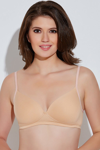 840c8ebcac Buy Rosaline Soft Cotton Padded Wirefree Bra- Skin at Rs.419 online ...