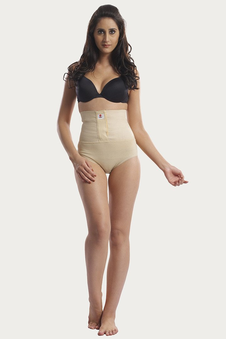 Swee Omtex Body Sculpting High Waist Brief With Velcro Skin